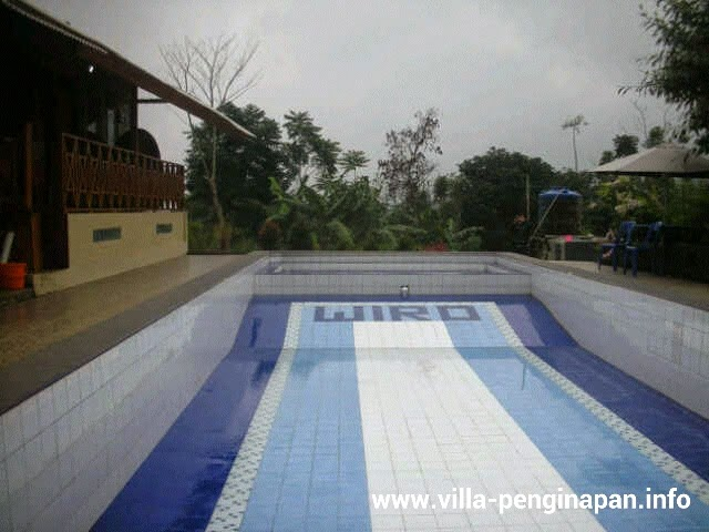 saran villa untuk rombongan di wisata ciater