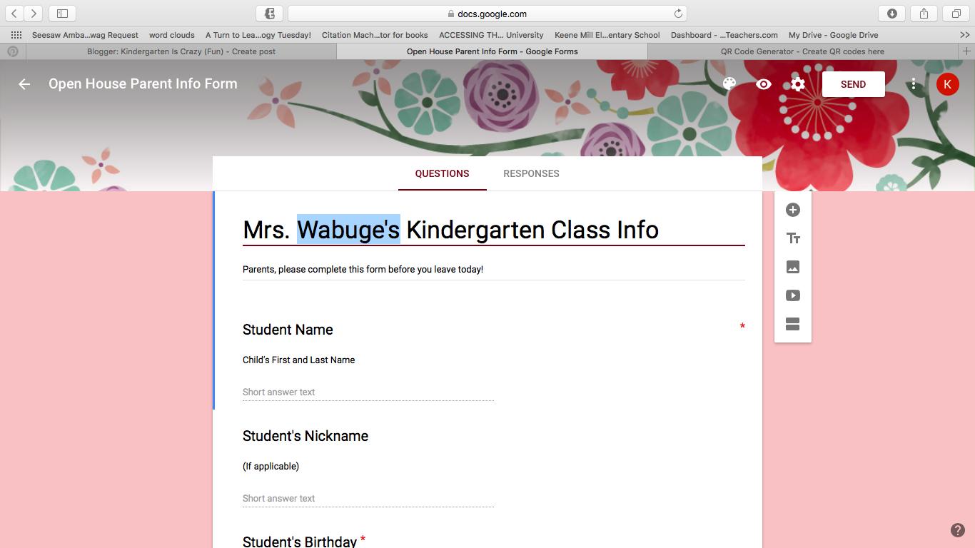 Kindergarten Is Crazy (Fun): Meet the Teacher/Open House