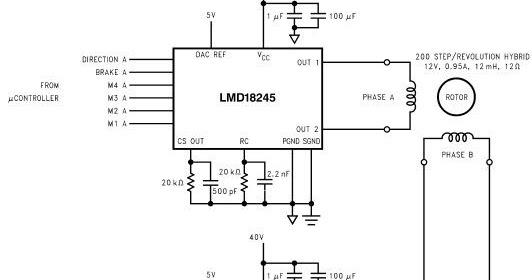 Lmd18245 Bipolar Stepper Motor Circuit Electronic