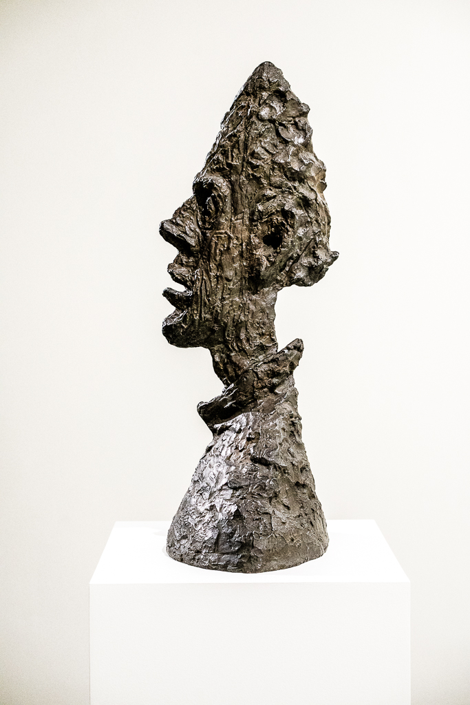 a photo of Grande Tête Mince sculpture by Alberto Giacometti