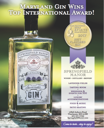 Maryland 's Springfield Manor Distillery Showcases 2017 Double Gold