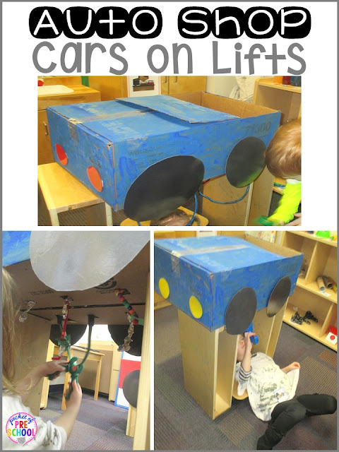 Auto Shop Dramatic Play Pocket Of Preschool