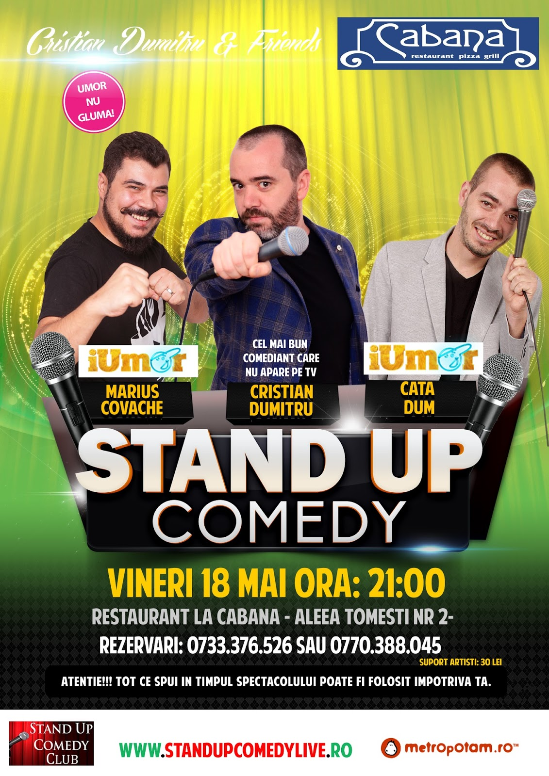 Stand-Up Comedy Bucuresti Vineri 18 Mai