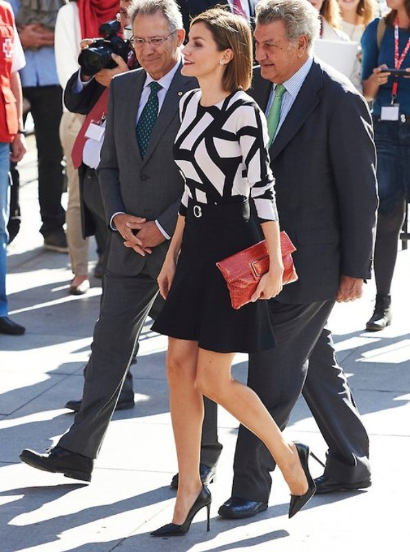 Queen Letizia Attended The Red Cross World Day