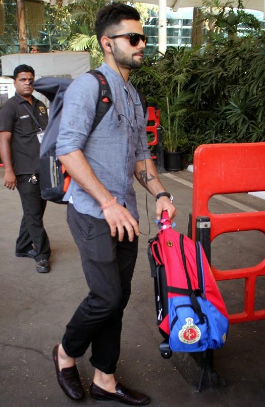 Movie Mela Clicked In Airport Hot Hunks Virat Kohli