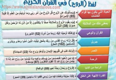 الروح في القرآن الكريم والسنة النبوية الشريفة