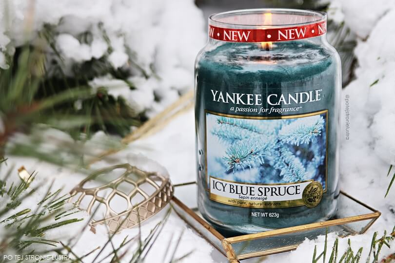 icy blue spruce yankee candle