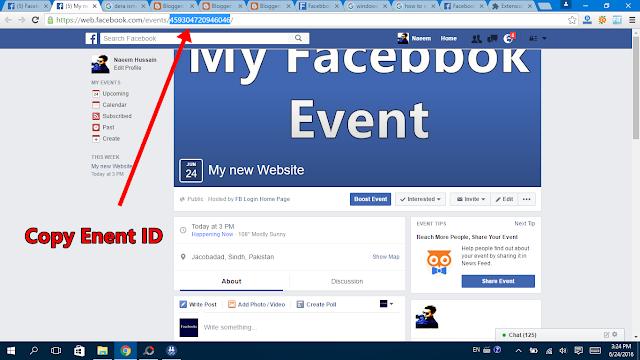 Invite all for event in facebook id copy