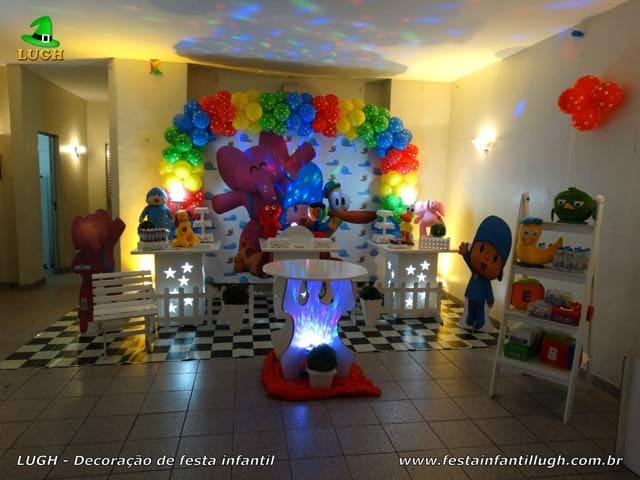 Decoração tema Pocoyo para mesa do bolo de festa de aniversário infantil - RJ