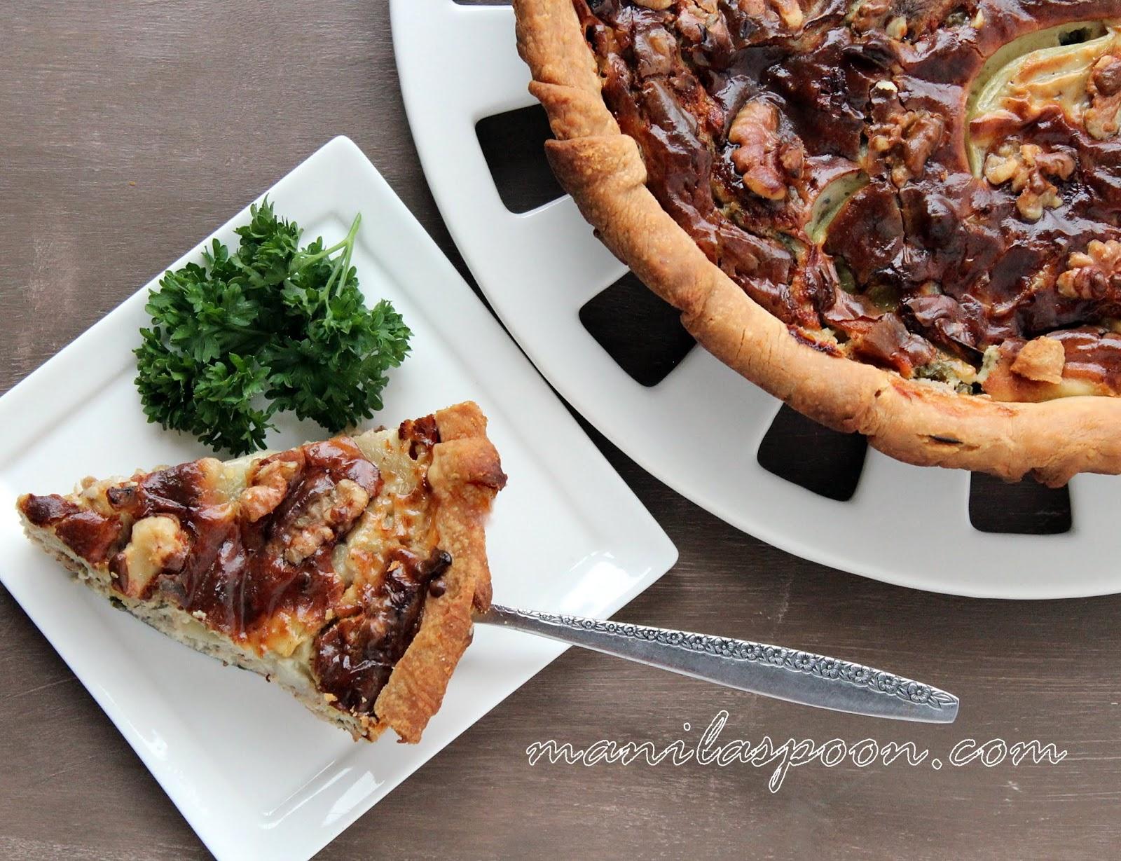 Stilton and Walnut Pie