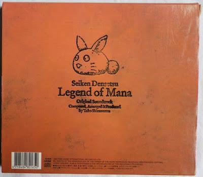 Legend of Mana OST - Funda cartón detrás