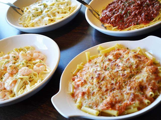 Massas do restaurante italiano Olive Garden