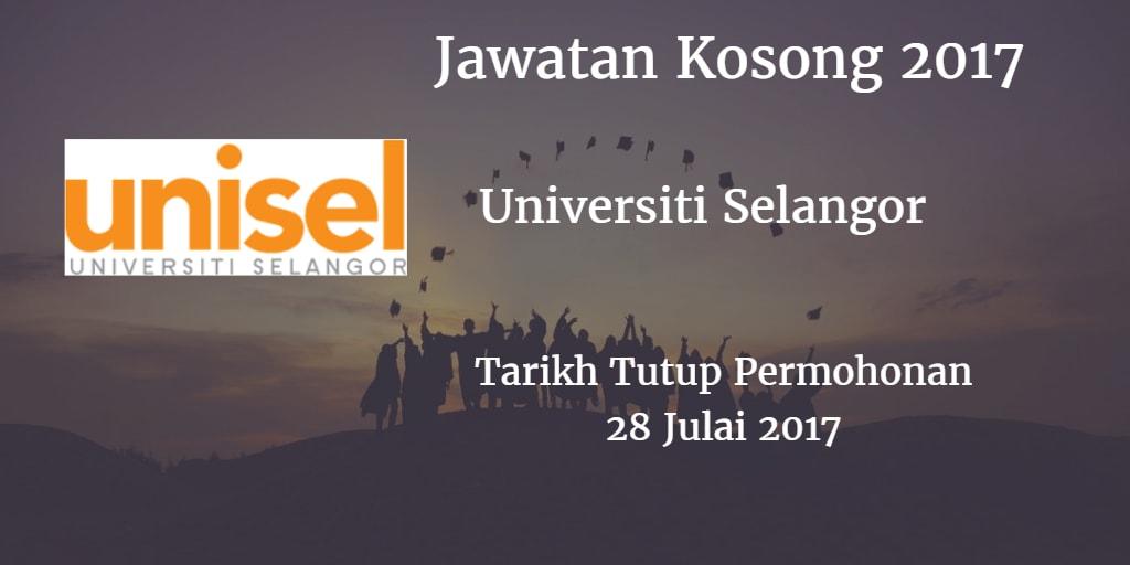 Jawatan Kosong UNISEL 28 Julai 2017