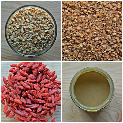 Gryczana granola z jagodami goji - składniki