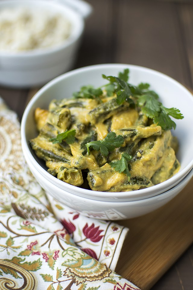 Bengali Okra in Yogurt gravy