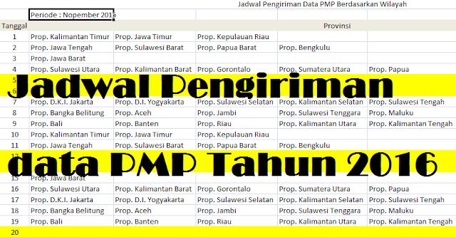 gambar Jadwal Pengiriman PMP Tahun 2016
