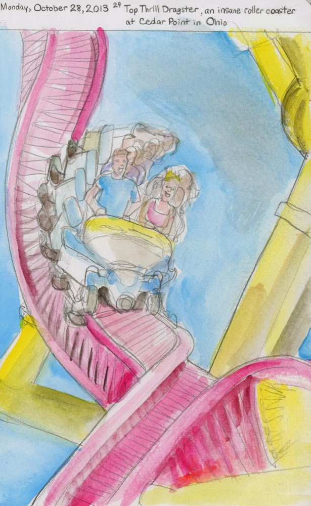 Art By K Gill 10 28 13 Top Thrill Dragster An Insane