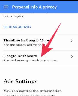google account dashboard open kese kare 3