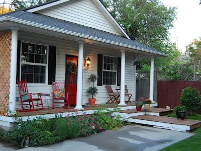 Red Door of Cottage House