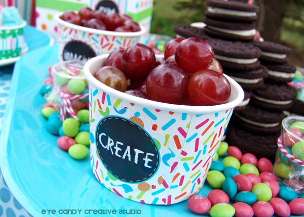 snack ideas for art party, back to school party, create, art party food