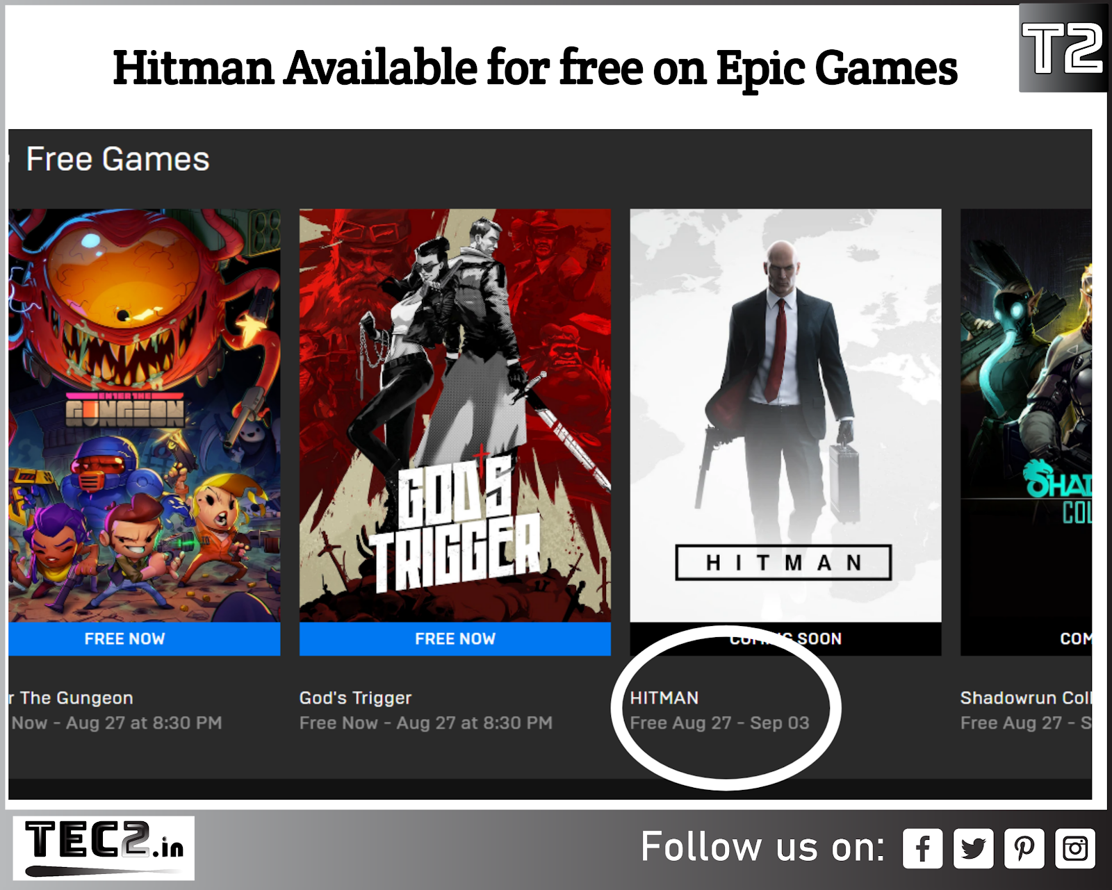 Hitman Game Of The Year Edition Going Free On Epic Games From Today