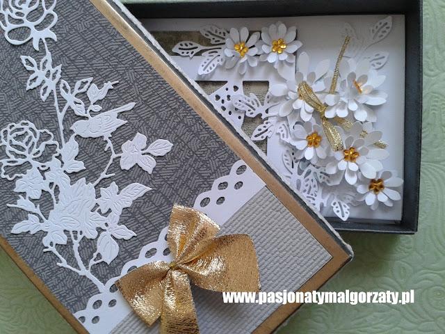 pudełka ozdobne , kartki ślubne
