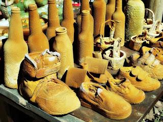 Tênis e Sapatos Petrificados em Puente del Inca