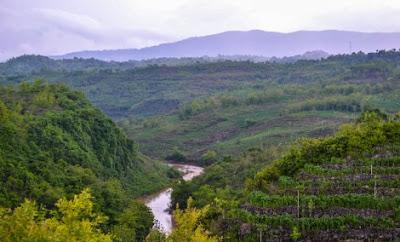 pemandangan dari atas bukit tri panjung yogyakarta