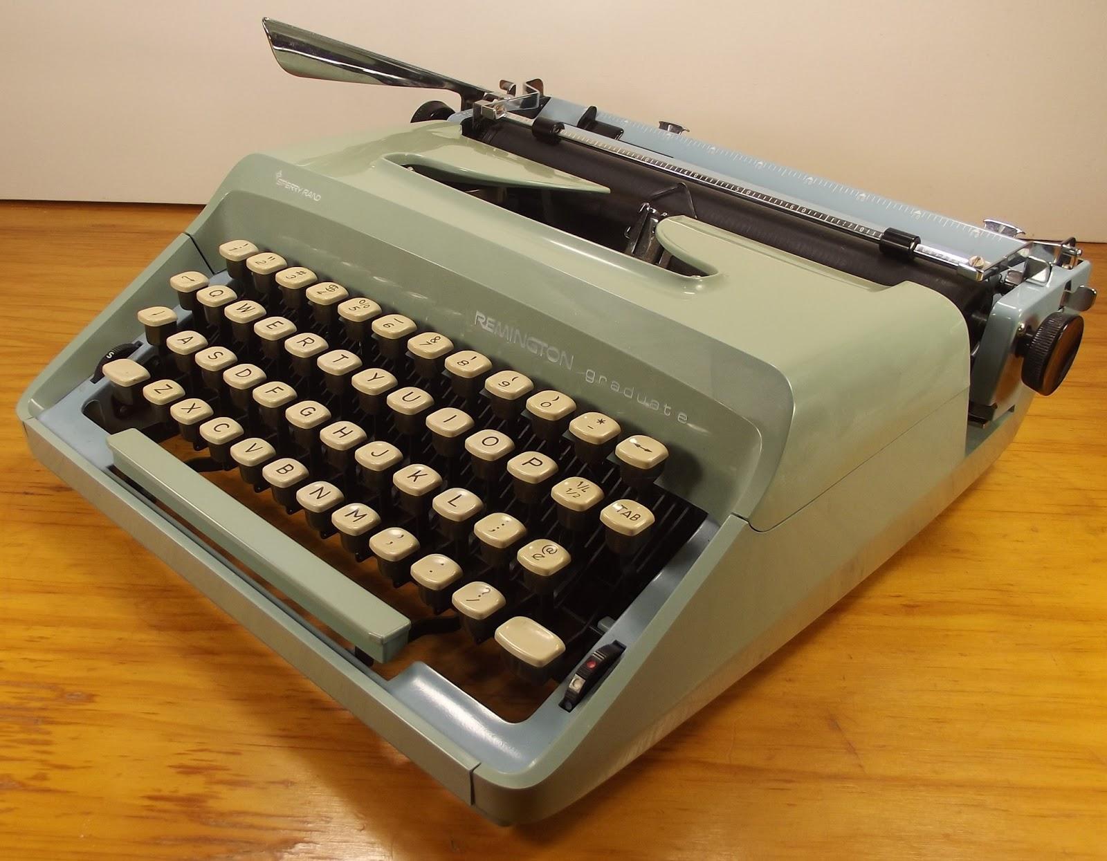 Oz Typewriter Good Remington Portable Typewriters Bad