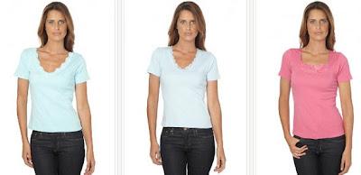 Camisetas baratas en color azul o rosa