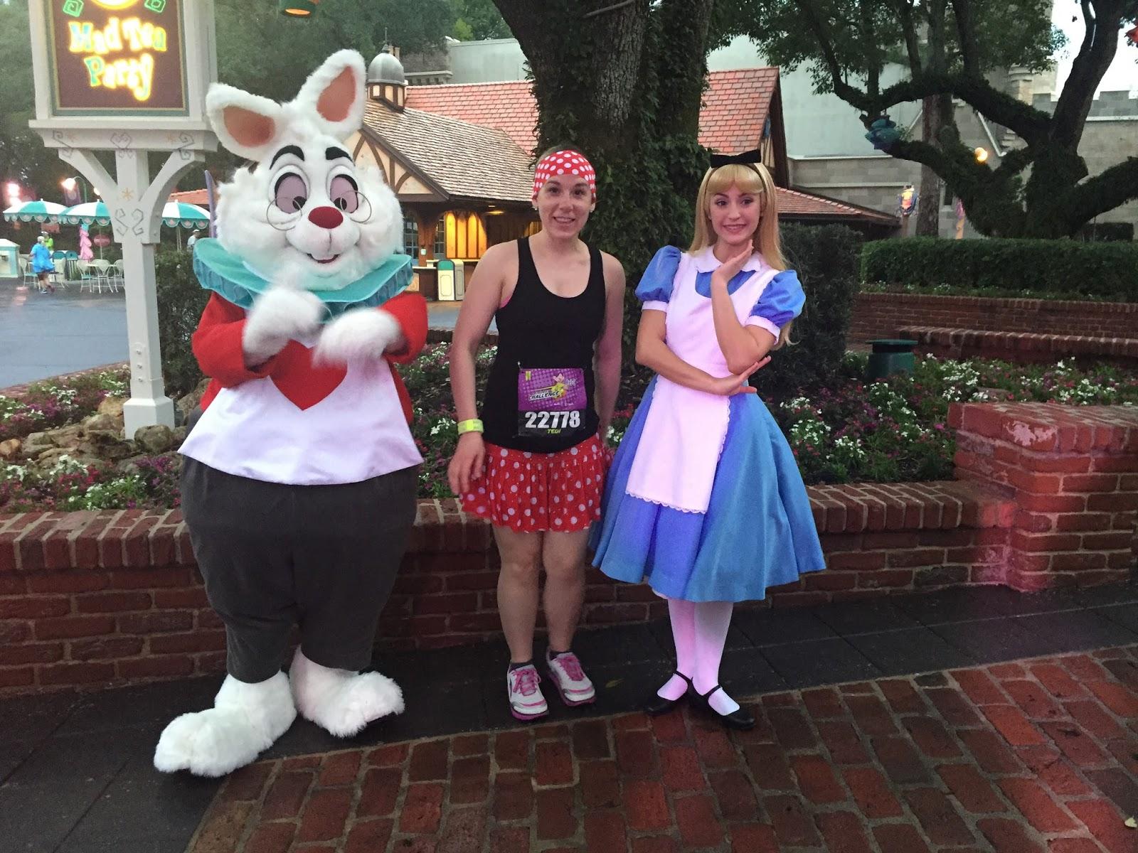 Dopey Challenge Mickey Marathon 2016 with Alice in Wonderland