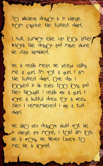 Letter from a dwarf to a dragon