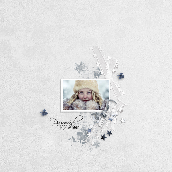 peaceful winter © sylvia • sro 2017 • moosscraps designs • peaceful winter