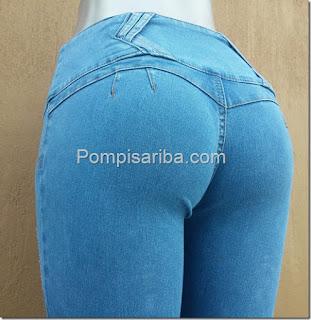 pantalones a la moda Corte colombiano de mezlilla gruesa venta de mayoreo baratos