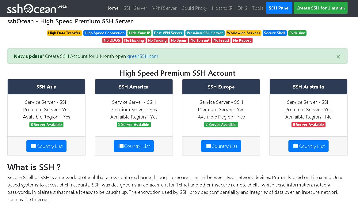 Cara Membuat Akun SSH Gratis Full Speed Terbaru 2017
