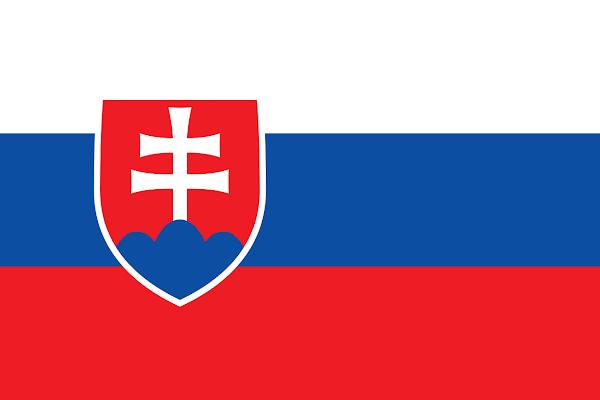 Logo Gambar Bendera Negara Slowakia PNG JPG ukuran 600 px