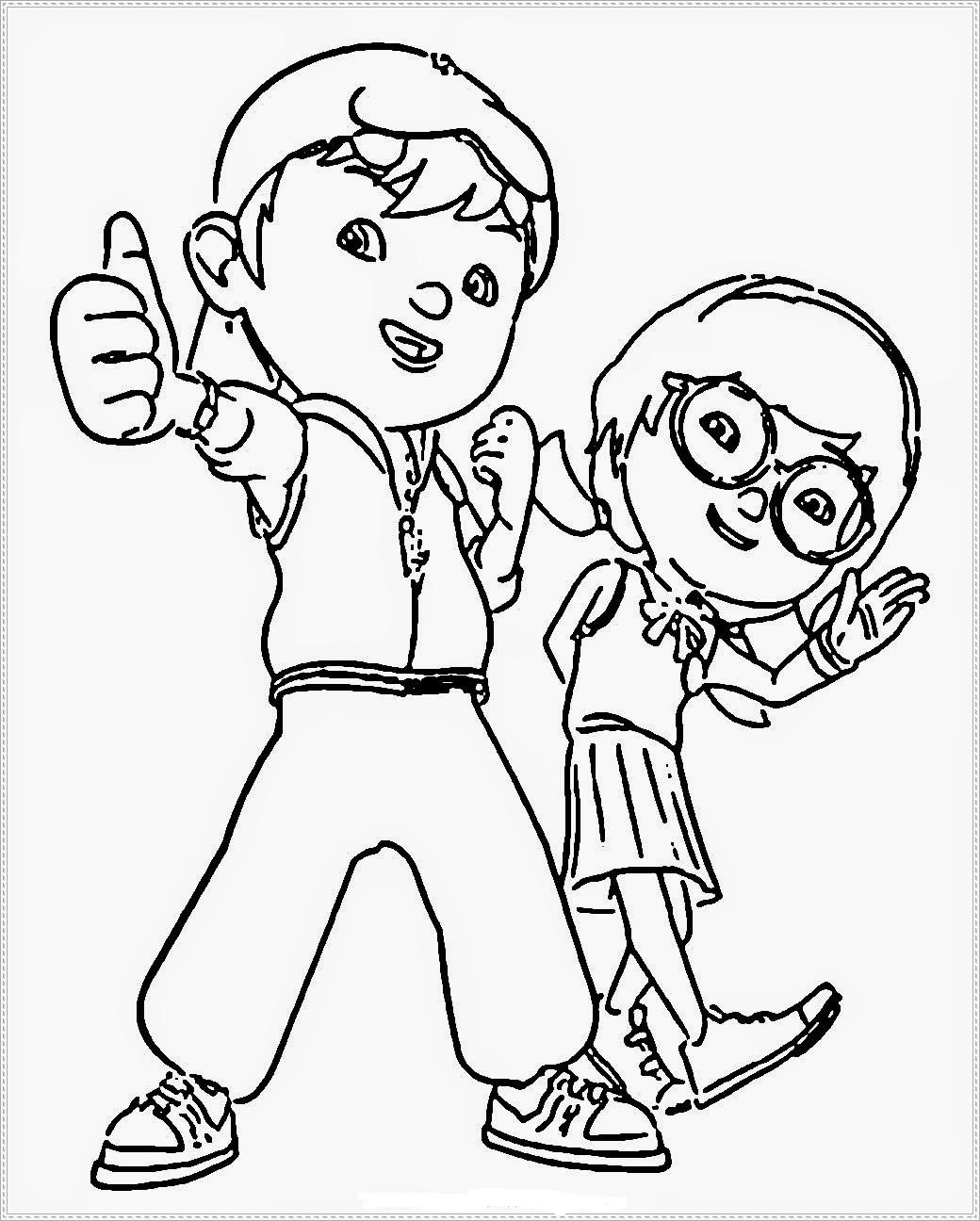 29 Gambar Mewarnai Kartun Boboiboy Gambar Kartun Hd