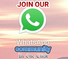 JOIN OUR WHATSAPP COMMUNITY