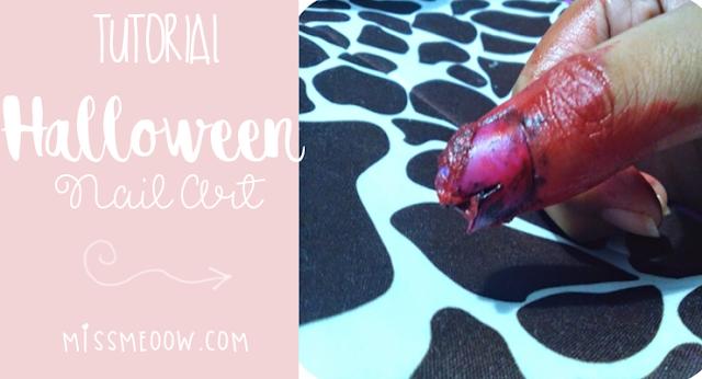 #Halloween: ¿Como hacer una uña levantada y ensangrentada falsa?