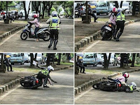 Kocak! Aksi Polisi Dan Pengendara Wanita Saat Razia Ini Bikin Ngakak Netizen