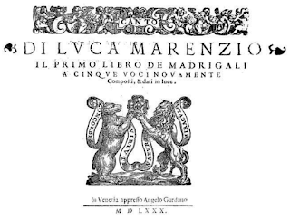 Marenzio's first book of madrigals was published in 1580