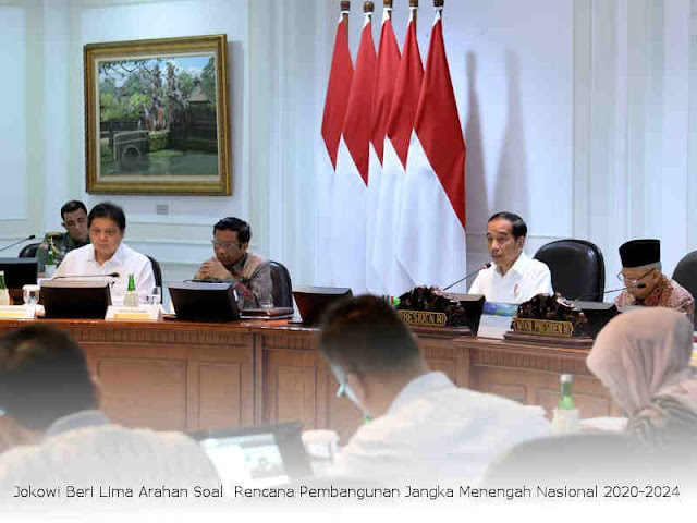 Jokowi Beri Lima Arahan Soal  Rencana Pembangunan Jangka Menengah Nasional (RPJMN) 2020-2024
