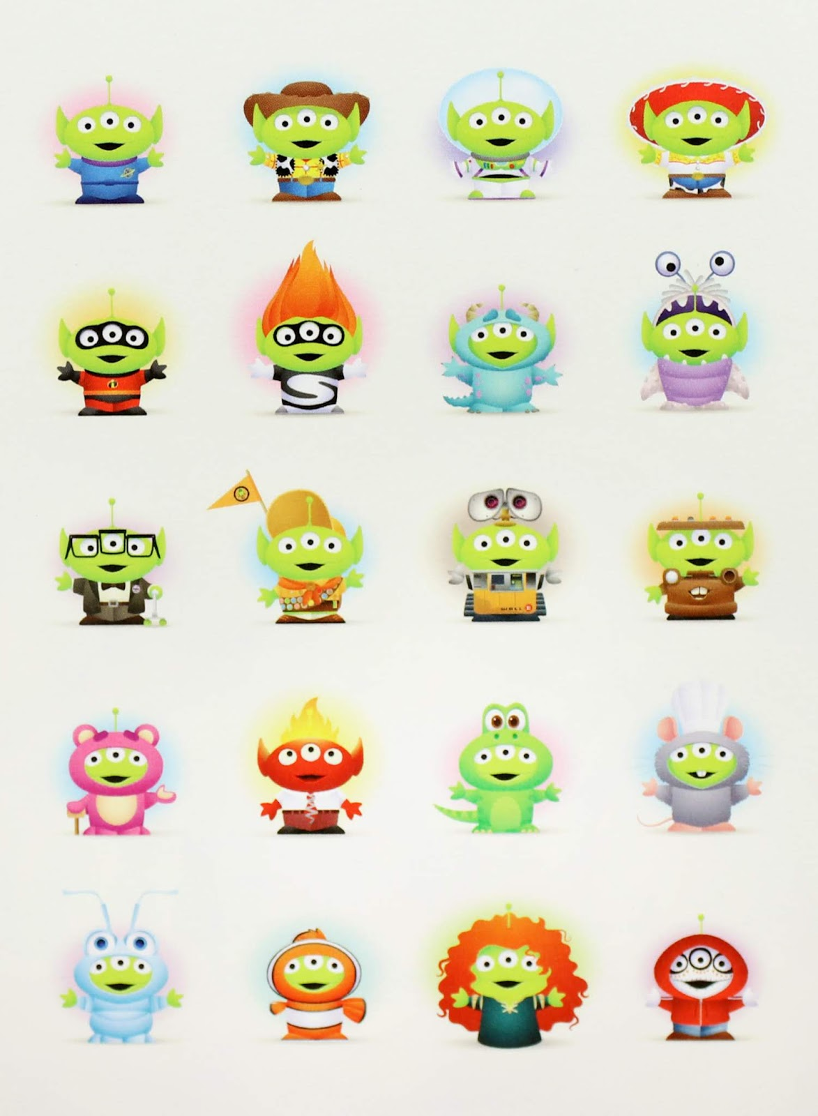 jerrod maruyama pixar studios little green men card toy story