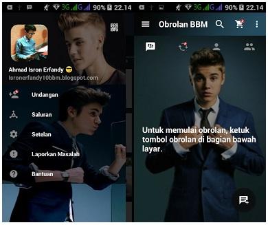 BBM MOD Tema Justin Bieber