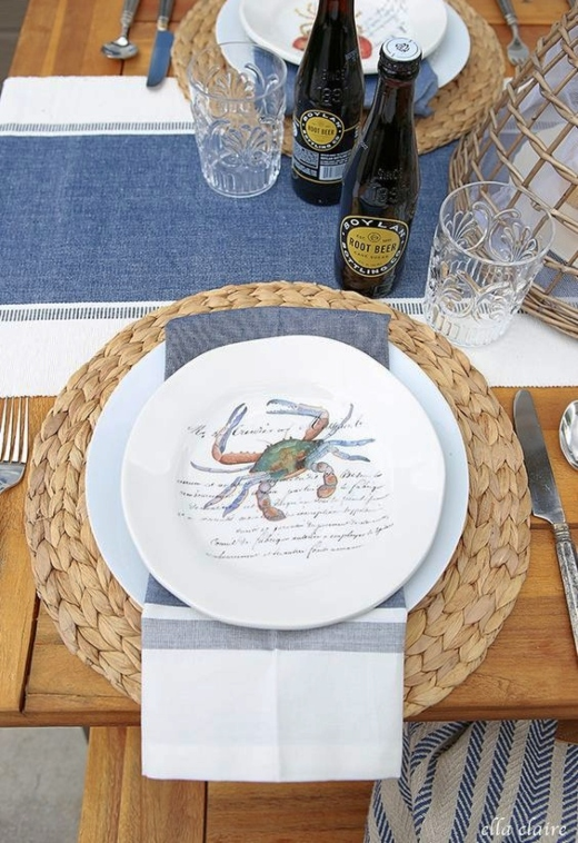 Place Setting Ideas with Wicker Rattan Charger Plates