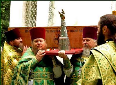Metal Horns Hornzeichen - lustige orthodoxe Priester