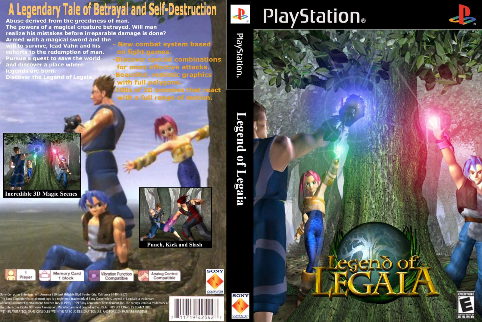Legend of Legaia PS1 DVD Capa
