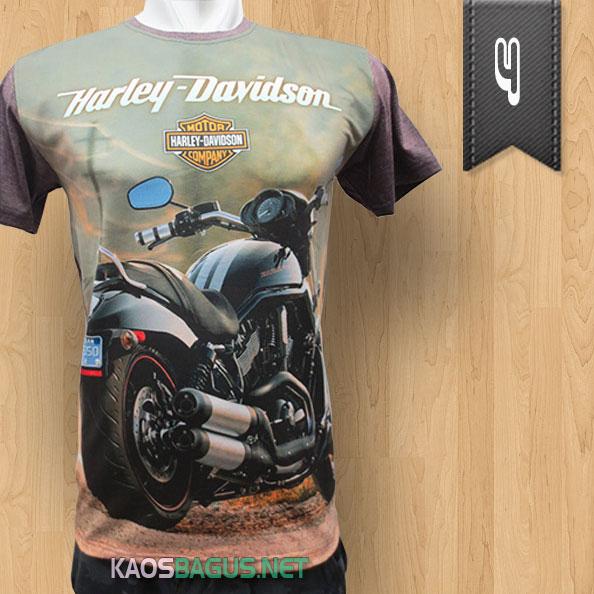 Kaos Harley Davidson Full Print