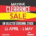 #MallOfAfrica MASSIVE CLEARANCE SALE AT DRIMAC