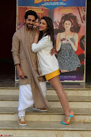 Parineeti Chopra with Ayushmann Khurrana at the Launch of Trailer of Meri Pyaari Bindu 001.JPG